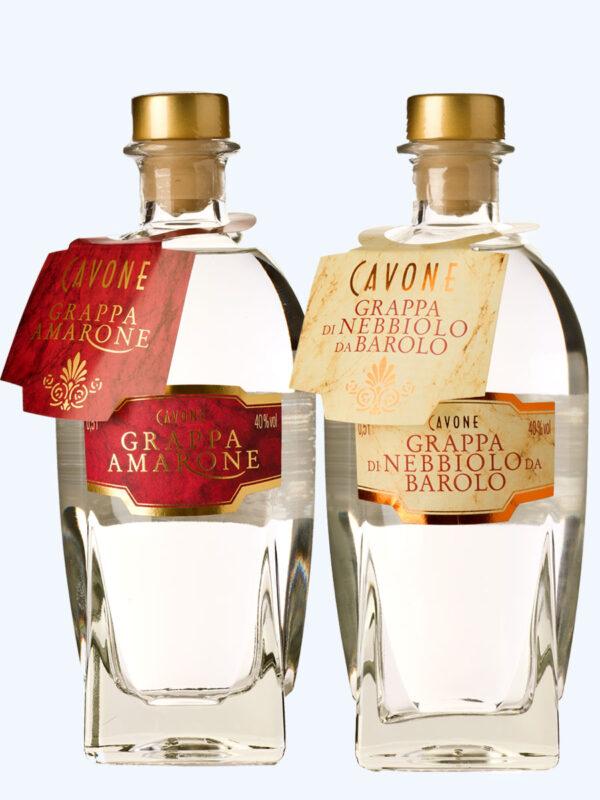 Grappa di Amarone und Grappa Nebbiolo